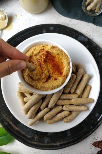Hummus de altramuces y tomate seco